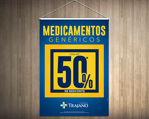 Descontos 50% – Farmácias Trajano
